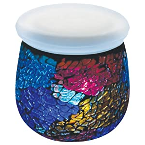 Click to buy LED Outdoor Lighting: Paradise Solar Mosaic Glass Jar Tabletop Light with Changing Light LED from Amazon!