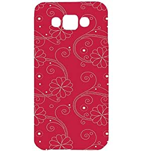 Casotec Floral Red White Design Hard Back Case Cover for Samsung Galaxy E7