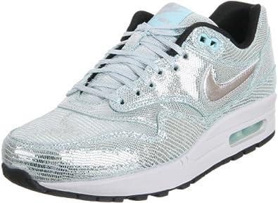 Nike Women's Wmns Air Max 1 QS, Disco Ball-METALLIC SILVER/MTLLC SLVR-GLCR IC, 12 M US