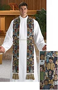 Children of the World Tapestry Clergy Stole with Tassels