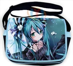 Vocaloid Shoulder Messenger Shool Bag with Hatsune Miku Pattern for Girls V5