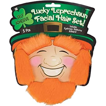 Amscan Mens St. Patrick's Day Green Moustache Pack