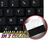 ENGLISH US KEYBOARD STICKERS NETBOOK BLACK BACKGROUND