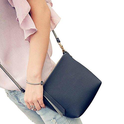 Gillberry Women Bag Leather PU Handbag Cross Body Shoulder Messenger Hand Bag (Black) (Hoover Handbag compare prices)