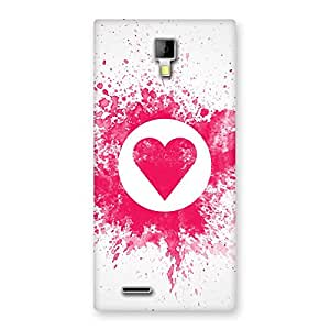 Heart Splash Back Case Cover for Micromax Canvas Xpress A99