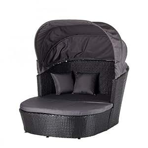 sonneninsel ellos polyrattan schwarz grau garten balkon strandkorb home24 neu. Black Bedroom Furniture Sets. Home Design Ideas