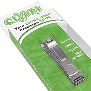 Clyppi Fingernail Clippers For Well Groomed Men & Stylish Ladies | Highest Rated | Perfect Gifts For Men & Women | Best Nail Clippers to Trim your Finger Nails | Extra Sharp Easy Grip Nail Clipper | Professional Deluxe Stainless Steel Nail Cutter | Lifetime Warranty