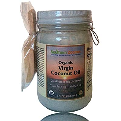 """Organic Virgin Coconut Oil. 100% Pure, Cold Pressed & Unrefined. Plus a Natural Scooper. FREE ebook """"Best Uses & Recipes."""" Great for Baking, Cooking, Popcorn, Moisturizing, Oil Pulling or Dogs Health."""