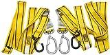 QuadBoss 2in. Swivel Tiedowns - Yellow/Black Soft Hook 100542