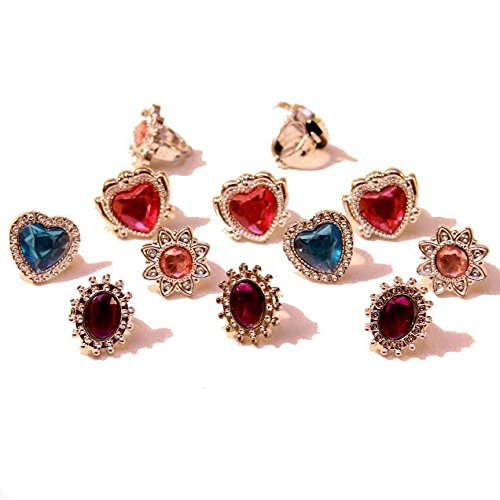 Dazzling Toys Kids Ring Jewelry 12 Pack. (D186)