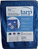 Kotap 10-ft x 12-ft General Purpose Blue Poly Tarp, Item: TRA-1012 Outdoor, Home, Garden, Supply, Maintenance