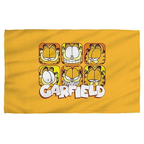 Garfield Faces Beach Towel White 36X58
