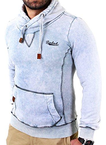 reslad-herren-dirty-vintage-style-kapuzen-pullover-hoody-rs-1151-grau-2xl