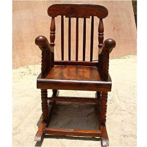 Amazon.com - Solid Wood Glider Rocker Rocking Arms Chair New -