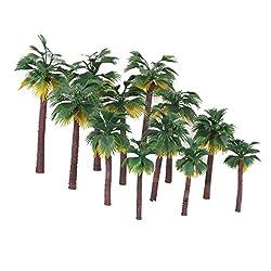 Generic 12pcs Layout Model Train Palm Trees Rain Forest Scale 1:65-1:150