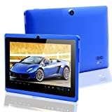 BEST TABLET COMPANY 7 inch Touch Screen Dual core Allwinner A23 15GHz CPU Android 422 Tablet PC Dual camera 4GB HDD 512MB WiFi Dual Core blue
