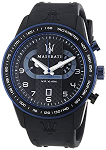 Maserati Men's Corsa R8871610002 Black Rubber Analog Quartz Watch with