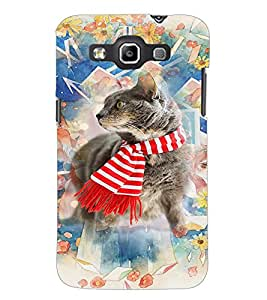 PrintDhaba Cat D-3179 Back Case Cover for SAMSUNG GALAXY WIN i8552 (Multi-Coloured)