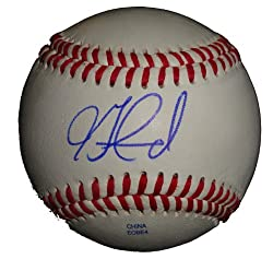 Jon Garland Autographed ROLB Baseball, Colorado Rockies, Chicago White Sox, Proof Photo