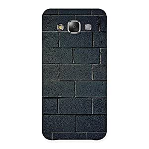 Special Black Brick Wall Back Case Cover for Galaxy E7