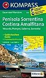 Halbinsel Sorrent /Penisola Sorrentina - Costiera Amalfitana - Vesuvio - Pompei - Salerno - Sorrento: Wanderkarte mit Kurzführer Dt. /Ital. /Franz. /Engl. 1:50000