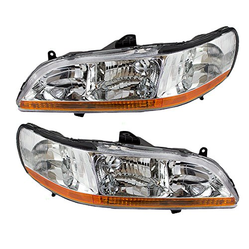 Driver and Passenger Headlights Headlamps Replacement for Honda 33151-S84-A02 33101-S84-A02 (Headlight Assembly Honda Accord compare prices)
