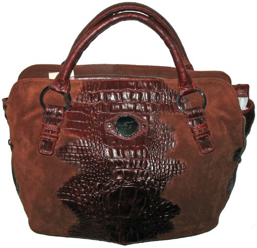 Junior Drake Crystal Croc Embossed Bag (Brick)