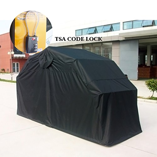 Quictent Heavy Duty Motorcycle Shelter Tourer Cover Storage Garage Tent with TSA Code Lock & Carry Bag (Large Size) (Motorcycle Storage Tent compare prices)