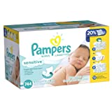 Pampers Sensitive Wipes 12x Pack, 2 packs (744 wipes Each)