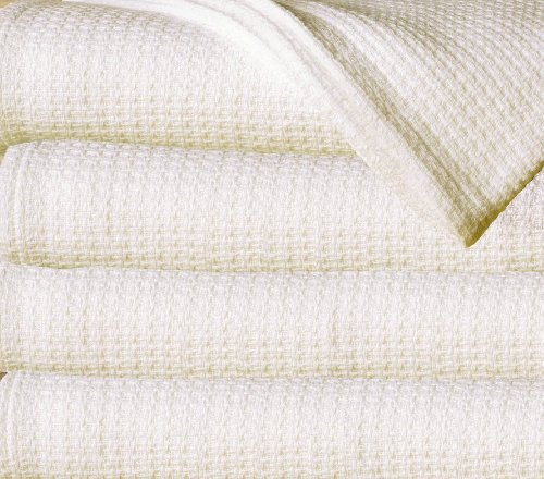 Find Discount Sun Yin 100-Percent Cotton Full/Queen Blanket, Ivory