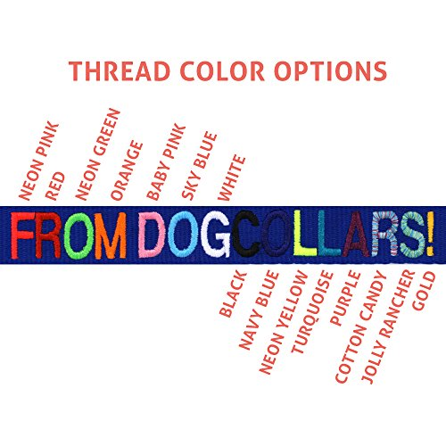 Embroidered Dog Collar Name And Phone Number