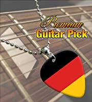 Germany Flag Premium Guitar Pick Necklace by Classic Rock Guitar
