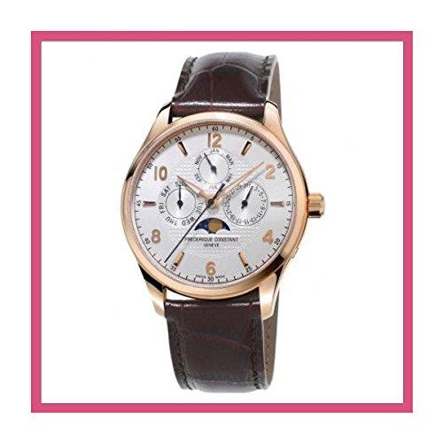 メンズ フレデリック・コンスタント Runabout Silver Dial Brown Leather Automatic Men's Watch[並行輸入品]