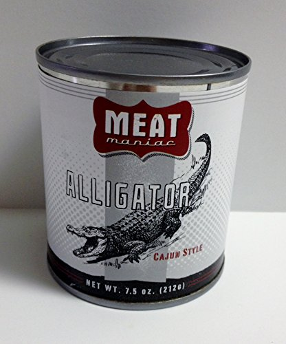 MEAT MANIAC CAJUN ALLIGATOR- Exotic Gourmet Canned Wild Game Meat (Canned Rattlesnake compare prices)