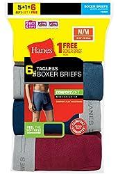 Hanes Men's Boxer Briefs 6-Pack 7349C6 - Assorted Color