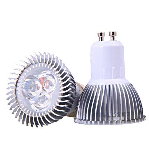 Atian New 3X1W Led Spot Light Bulbs Lamp Warm White Gu10 Spotlight