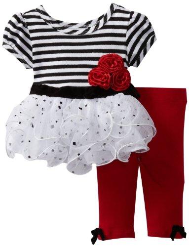 KicKee Pants Baby Girls Print Ruffle Tank 12-18 Months - Island Girl Stripe Baby