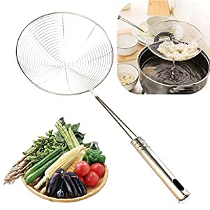 Large 15CM Stainless Steel Long Handle Mesh Strainer Flour Sifter Sieve Colander