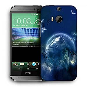 Snoogg Amazing Space Printed Protective Phone Back Case Cover For HTC One M8