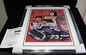 Dale Earnhardt SR. Signed 27 X 33 Sam Bass Print Auto Framed - PSA DNA Certified -... by Sports Memorabilia