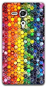 The Racoon Grip Crayons hard plastic printed back case / cover for Sony Xperia SP