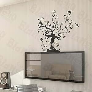 amazon com vine tree large wall decals stickers big tree wall stickers lime amazon ca home amp kitchen