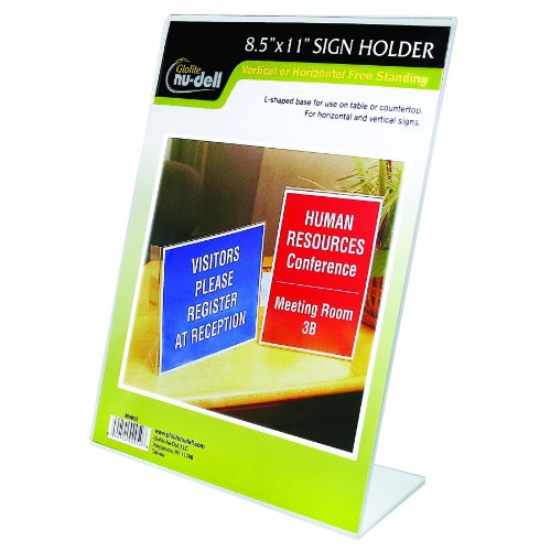 "8.5"" X 11"" L-Shaped Sign Holder, Clear front-997502"