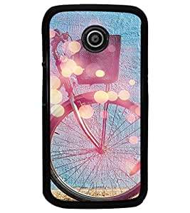 PrintDhaba Tyre Design D-3250 Back Case Cover for MOTOROLA MOTO E (Multi-Coloured)