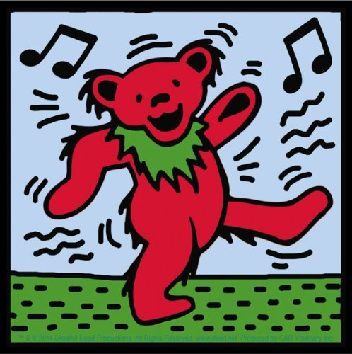 Licenses Products Grateful Dead Dancing Bear Sticker