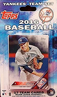 New York Yankees 2016 Topps Baseball Factory Sealed EXCLUSIVE Special Limited Edition 17 Card Complete Team Set with Masahiro Tanaka, Alex Rodriguez & More Stars & Rookies! Shipped in Bubble Mailer!