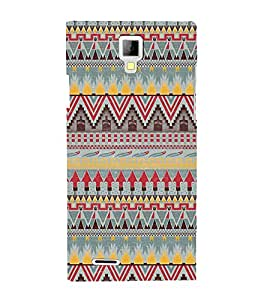 Arrow Pattern Wallpaper 3D Hard Polycarbonate Designer Back Case Cover for Micromax Canvas Xpress A99