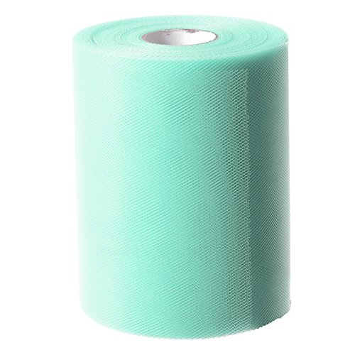 Review Ling's moment 6 Inch x 100 Yards (300FT) Tulle Roll Spool Tutu Skirt Fabric Wedding Party Cra...