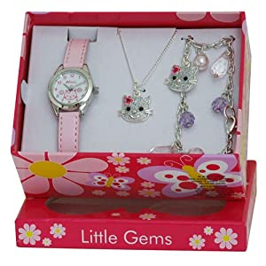Ravel Little Gem Kids Kitten Watch & Jewellery gift Set For Girls R2212