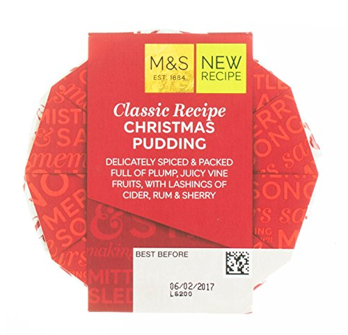 marks-spencer-classic-recipe-christmas-pudding-100g-35oz-delicately-spiced-packed-with-vine-fruits-w